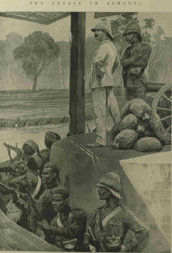 Ashanti towns and villages burned - Sir Frederick Hodgson during the siege of Kumasi