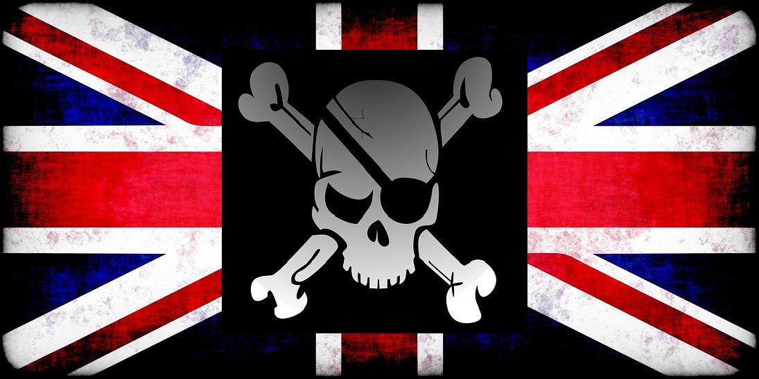 Logo RogueNation.org union jack skull crossbones