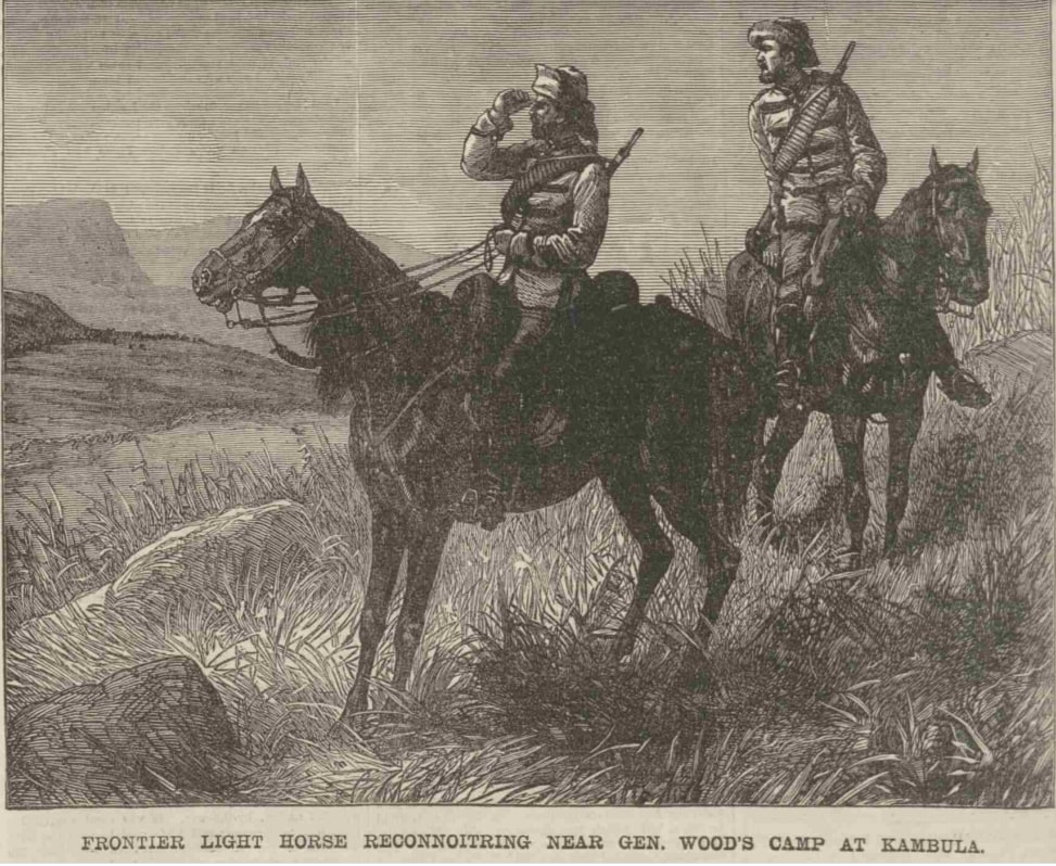 The Frontier Light Horse at Kambula - The Penny Illustrated Paper, 31 May 1879, p. 340.